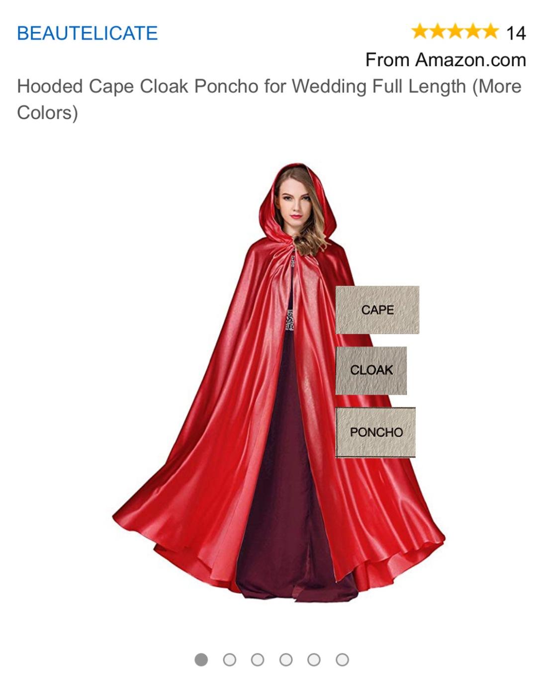 Cape Cloak Poncho